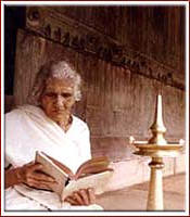 Kerala Grandmother Reading Ramayanam